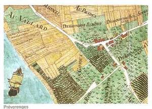 plan cadatral de la commune de Préverenges datant de 1773