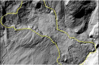 Vue aérienne du glissement de terrain de la Frasse (VD)