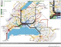 Carte du réseau vaudois