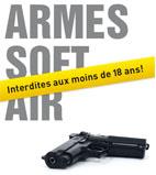 Interdiction d'armes soft air aux moins de 18ans