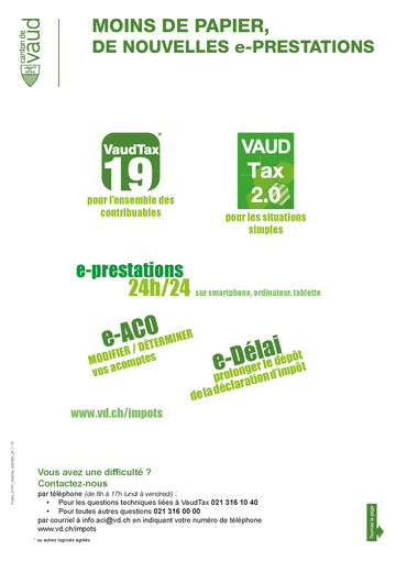calendrier fiscal 2020 vaud