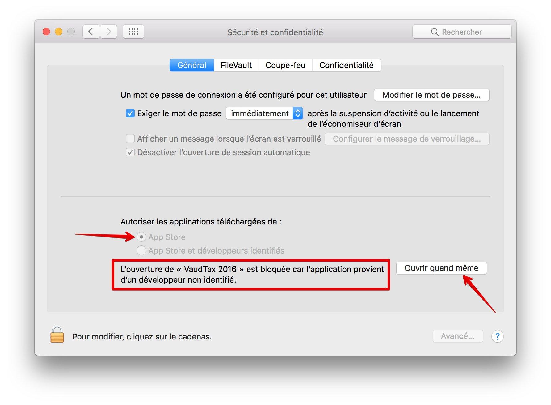 0299dc7ab1040 Les alertes n'apparaissent que lors du premier lancement des applications,  comme c'est le cas avec les versions précédentes de Mac OS X. Dès lors, vous  ...
