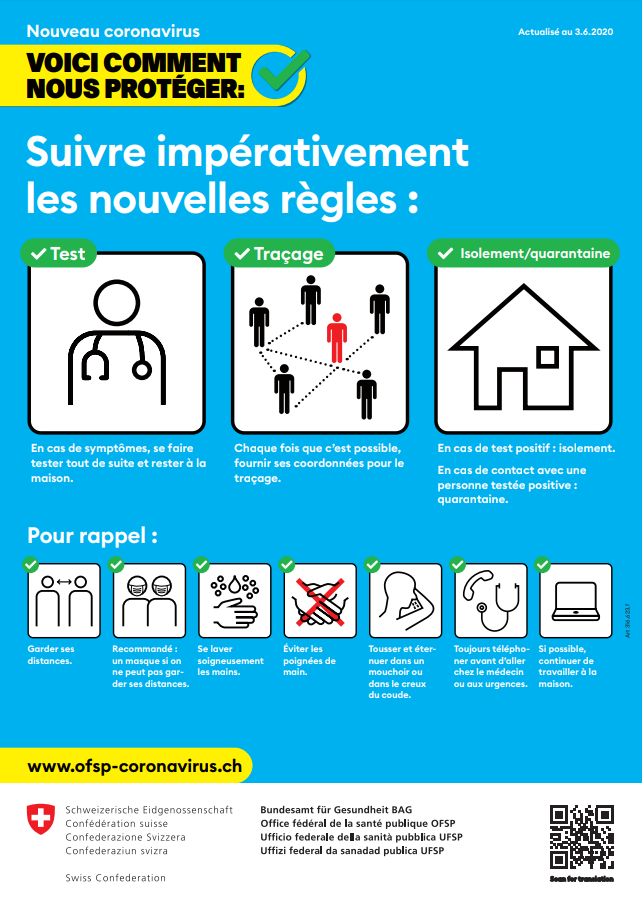 Informations destinées aux parents et aux professionnels de la formation  dans le Canton de Vaud – Coronavirus (Covid-19) - VD.CH