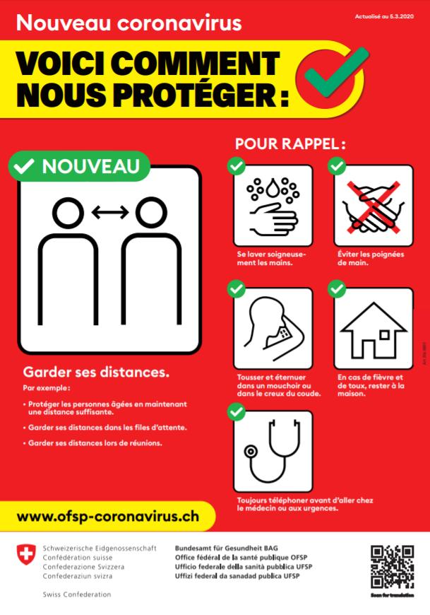 Nouveau coronavirus : voici comment nous protéger.