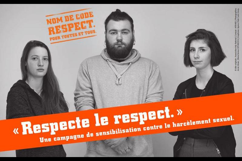 """Affiche """"respecte le respect"""""""