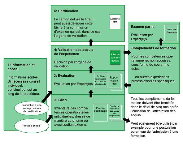 Schéma des étapes de la VAE